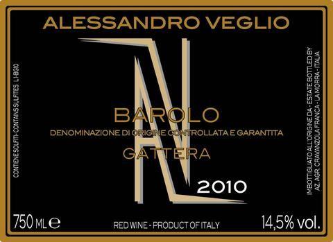 Alessandro Veglio Barolo Gattera 2009