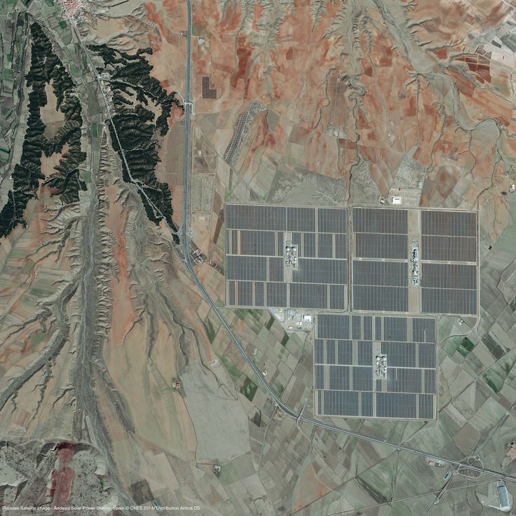 As non-renewable sources are depleting, solar energy will be a replacement for these sources i.e. solar power station. Pleiades- 1A captured the image of Andasol solar power station on 17/03/2014, located in the Province of Granada, Spain. It is 150MW power station in an area of 6 square kilometers, which use tanks of molten salt as thermal energy storage to continue generating electricity.   Image © Airbus Defence and Space 2017. SATPALDA Geospatial Services is a privately owned company and…