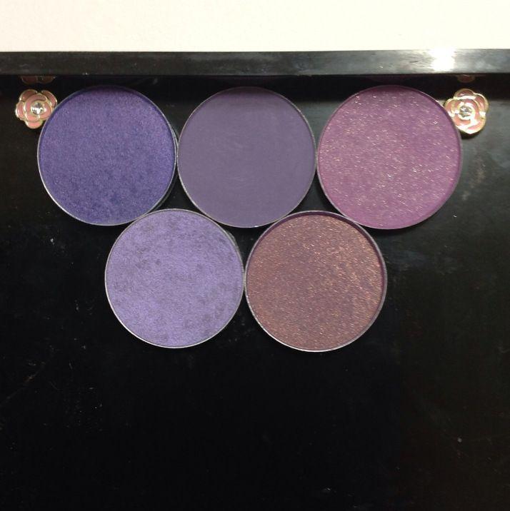 20131027-202159.jpg Mac Parfait Amour, Purple Haze, Crème de Violet, Beautiful Iris, Trax