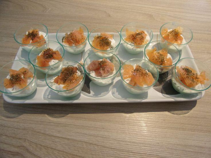 Verrines saumon fumé et mascarpone