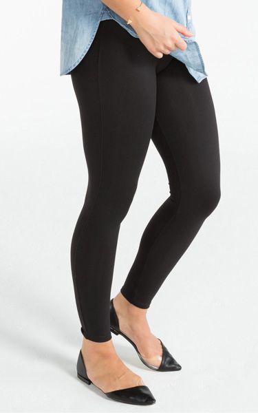 Spanx Essential Very Black Leggings via @bestchicfashion