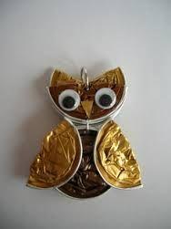 Eule/owl aus Nespresso-Kapseln