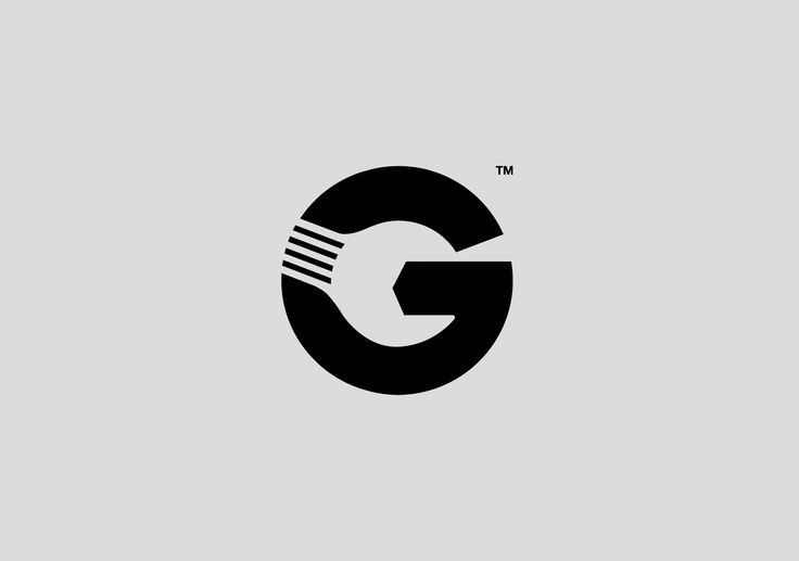 """Gott's Van & Car Service Centre: Clever use of negative space of the letter """"G"""" to create the shape of a spanner - designed by Jordan Blyth, UK"""