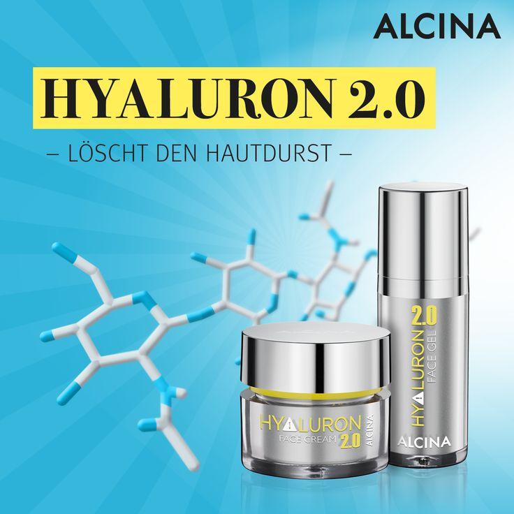 >>> Beauty-Wunder Hyaluron <<< Wusstet ihr, dass die weiterentwickelte Form der Hyaluronsäure bis zu 6 Liter Feuchtigkeit pro Gramm bindet? Richtig spannend! Deshalb sollte das Hyaluron 2.0 Face Gel sowie die Face Cream niemals in eurem Reisegepäck fehlen. Schaut mal was Hyaluron alles kann: https://www.alcina.com/hyaluron/