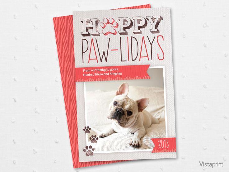 Happy Paw Lidays Holiday Card Vistaprint CHRISTMAS