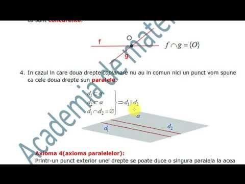 VIII-Geometrie-Puncte, drepte, plane.Determinarea dreptei si a planului