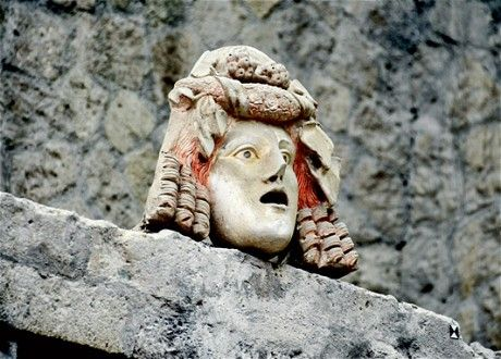 Theatre mask, Herculaneum. Credit: Alamy