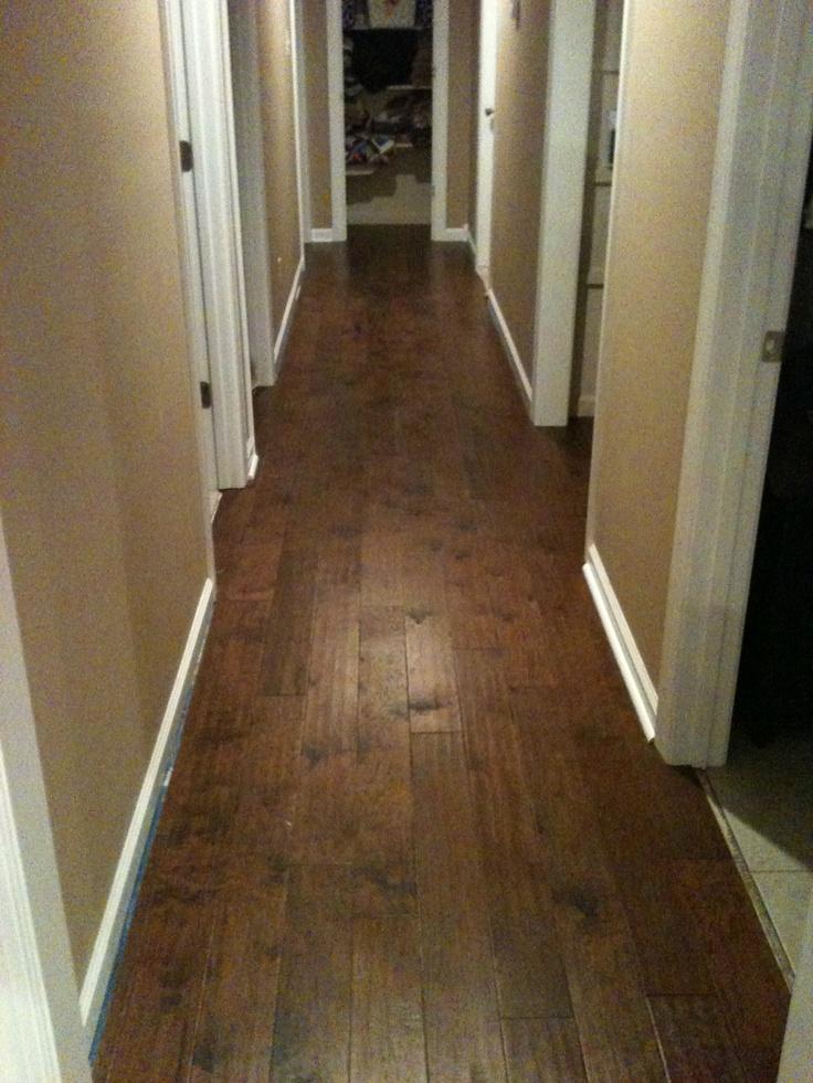 Hallway Of Engineered Hardwood I Installed This Like A