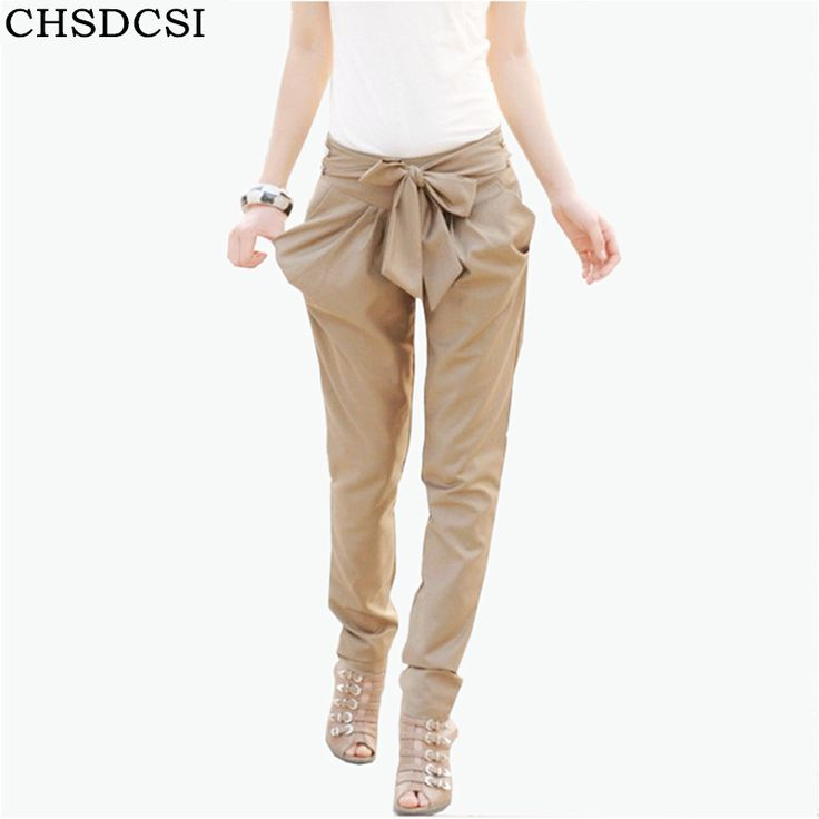 7,64 EUR, inkl. Versand: OL Woman Trousers Skinny Long Trousers OL Woman Casual Bow Knot Harem Slim Comfy PantsThin Pencil Trousers For Women Plus Size-in Pants & Capris from Women's Clothing & Accessories on Aliexpress.com | Alibaba Group