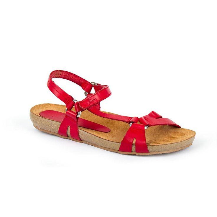 16Ibiza041Rojo - Sandal bio Ibiza-041 Red Leather
