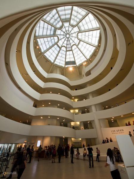 Музей Соломона Гуггенхайма – #Соединённые_Штаты_Америки #New_York #Манхеттен (#US_NY) Музей искусства в США.  ↳ http://ru.esosedi.org/US/NY/1000234105/muzey_solomona_guggenhayma/