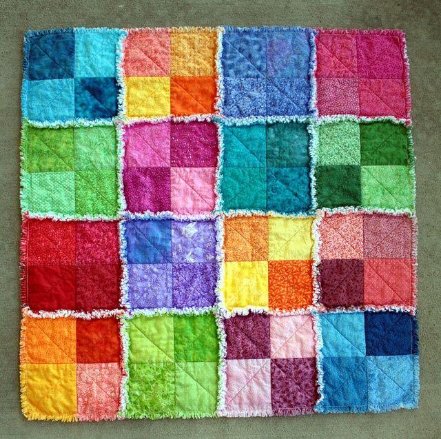 25+ best ideas about Rag quilt on Pinterest Rag quilt ...