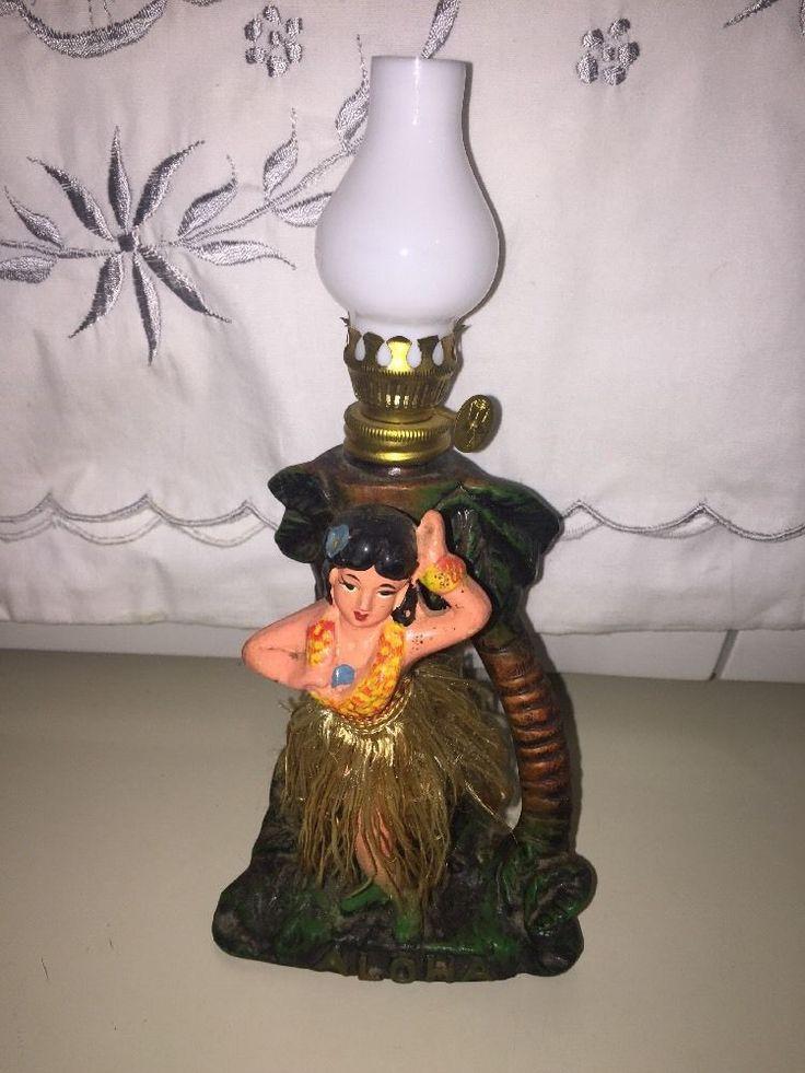HAWAII HULA GIRL DANCER MINIATURE OIL LAMP    eBay