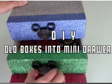 Craft Warehouse   DIY : Old Boxes into Mini Drawer #2