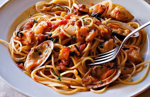 Comparte Recetas - pasta a la marinera baja en calorías