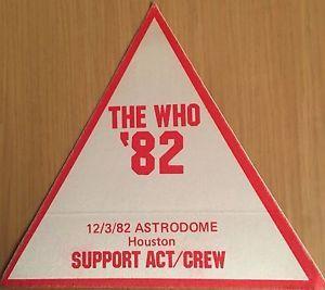 a pase de tela ticket entrada de concierto the who 12382 houston