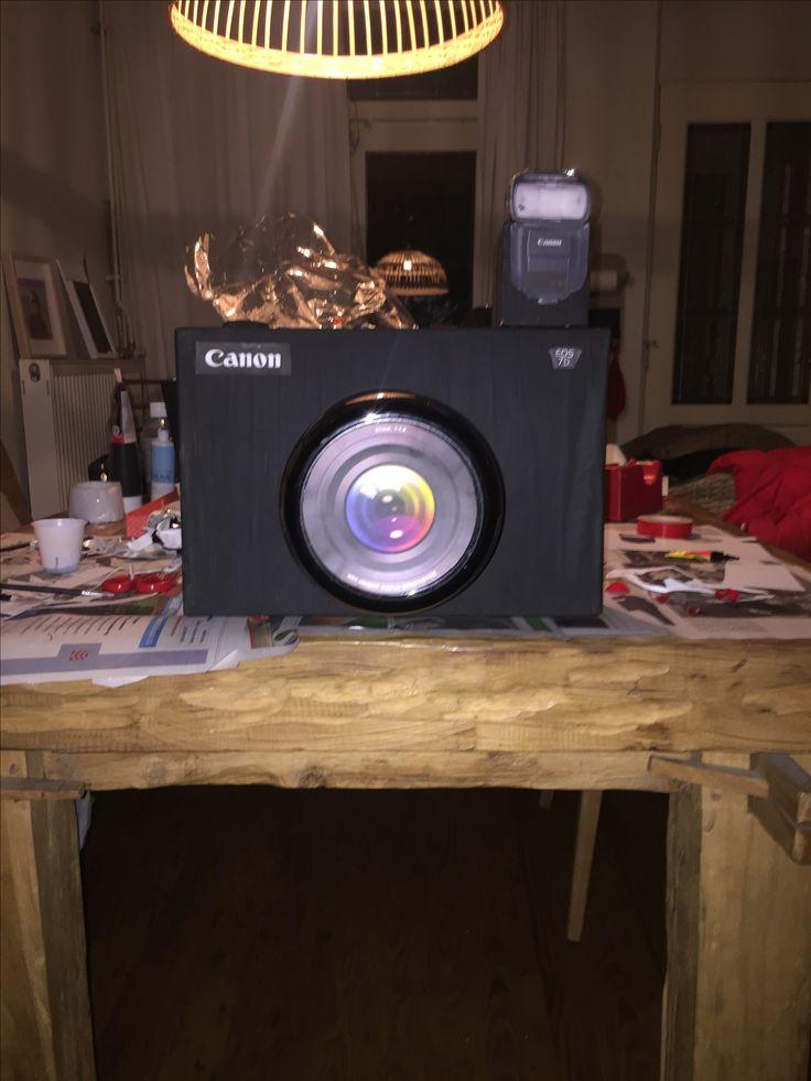 Surprise camera, makkelijk en leuk! Fietslampje achter de flitser en het lijkt op een echte flits!