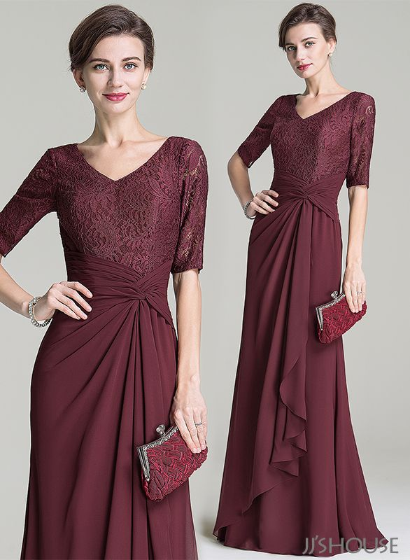 A perfect choice for anyone looking for a modest formal dress! #1/2sleeves #motherdress #jjshouse