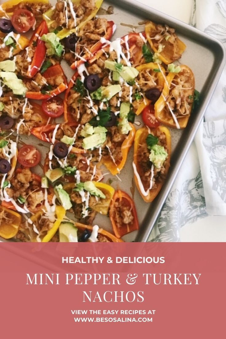 mini peppers replace the traditional chips in this low carb ground turkey nachos recipe loaded with in 2020 stuffed peppers stuffed sweet peppers turkey nachos recipe pinterest