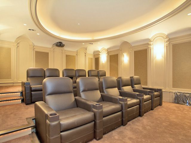 Home theater at the $ 56 million the Stone Mansion, Alpine, NJ