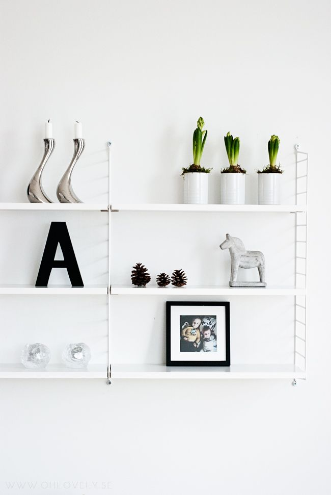 Via So Lovely | String System | White | Letter A | Dala Horse