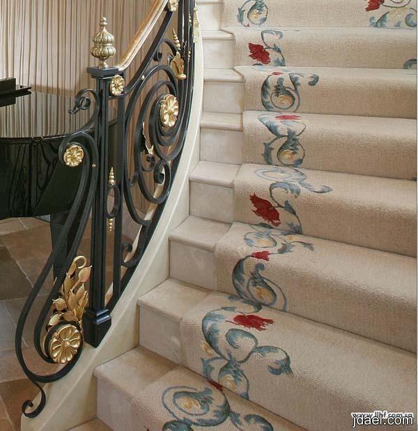 تصاميم درابزين المنيوم وحديد لدرج الفلل ديكورات دربزينات سلالم فخمه Staircase Decor Stairs Staircase