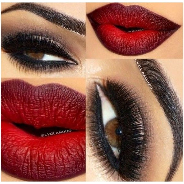 20 Perfect Club Makeup Looks Featuring Sexy Smokey Eyes! ❤ liked on Polyvore featuring beauty products, makeup, eye makeup, beauty, lipstick, eyes, glitter eye makeup, nude cosmetics, red lip makeup and red lips eye makeup