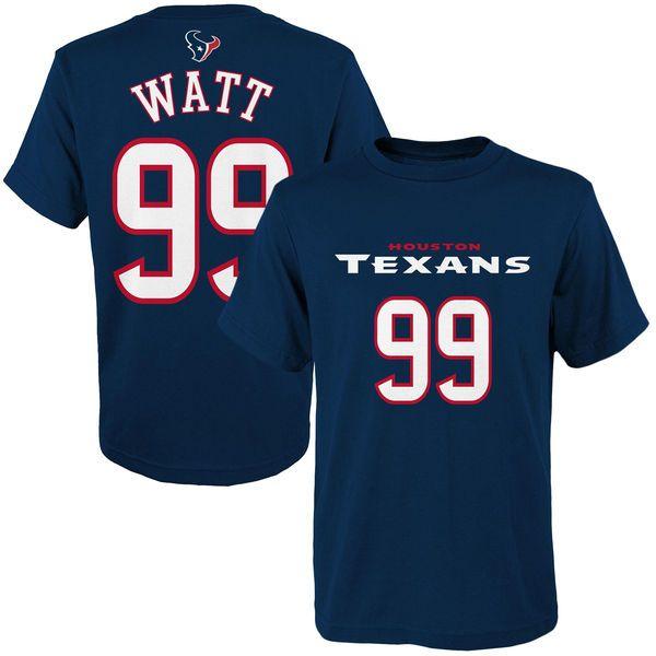 ... Youth Houston Texans JJ Watt Navy Blue Mainliner Name Number T-Shirt ... f0f879f82