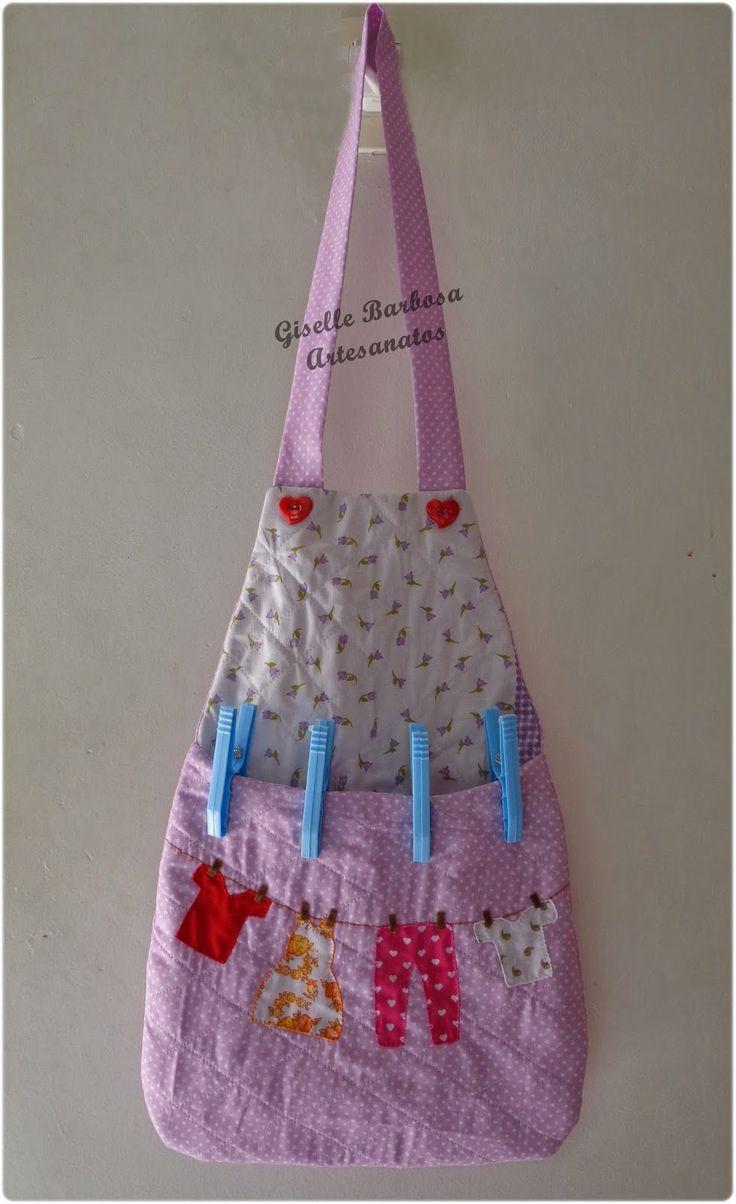 Giselle Barbosa Artesanatos: Porta pregador/prendedor de roupa em tecido Flores...