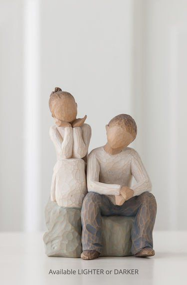Brother and Sister - Willow Tree Figurine - The Shabby Shed  Sentiment: By my side