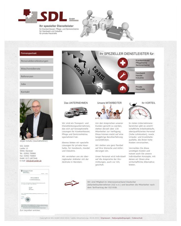 Homepage Personaldienstleister  www.sdl-gmbh.de
