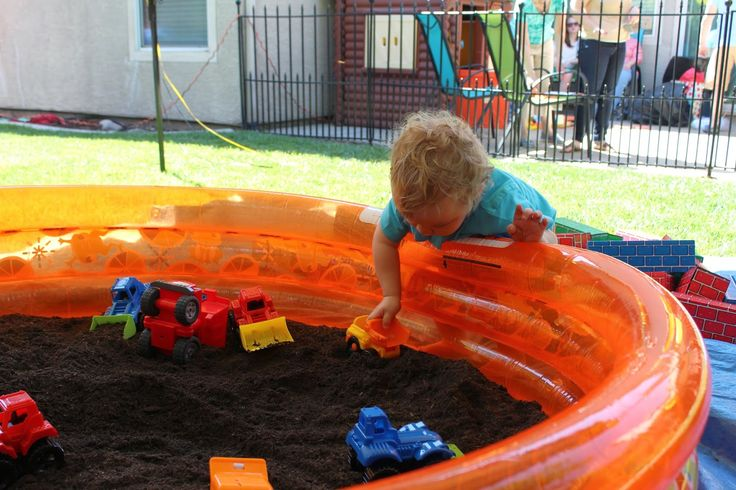 Fill A Swimming Pool With Dirt And Add Some Toy Trucks For