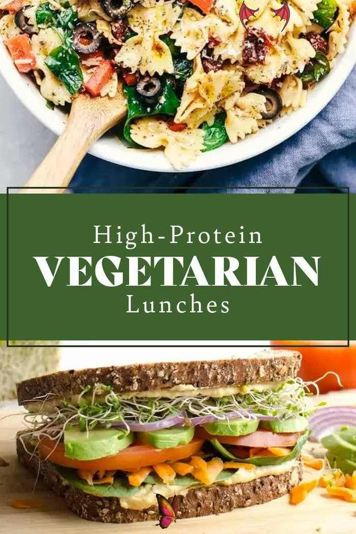 21 Balanced Lunch Ideas With A Ton Of Protein And No Meat 21 High Protein Vegetarian Lunch Recipes That Ll Keep You Full Br Running Out Of Lunch Ideas Th En 2020 Yum