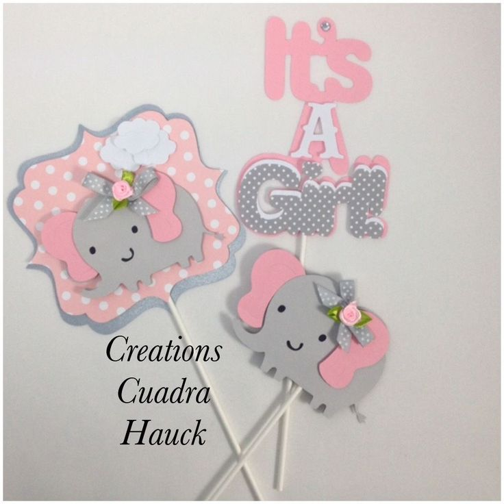 Details about Elephant centerpieces/ Pink and Gray ...