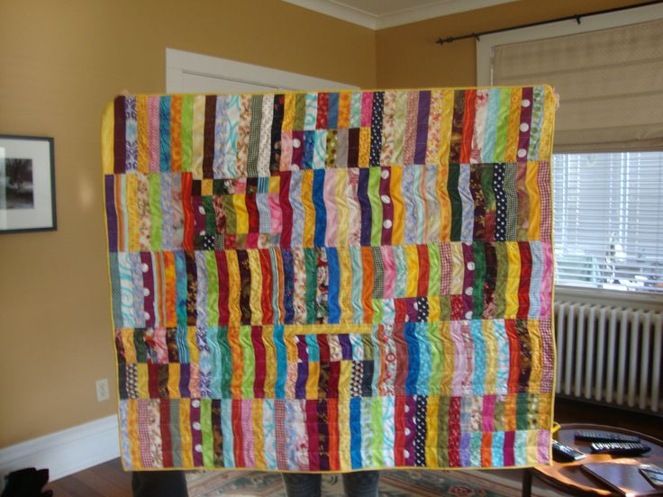 strip quilt for baby Kaitlyn B.