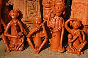 Clay Crafts of India is an ancient art form dating back to more than 1000 years. The remnants of clay pottery that is found in the sites of Indus Valley Civilisation points to the highly skilled potters who were present even in ancient India. Red Ware was the most popular clay craft in the late Vedic Age. According to myths and traditions clay art was originated by the Potter. Potter the synonym of Prajapati is also revered as Lord Brahma, the creator, created human beings from clay.