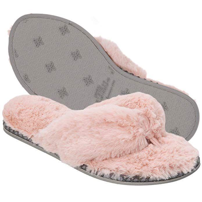 153b022ee23f Dearfoams Women s Pile Thong Slipper
