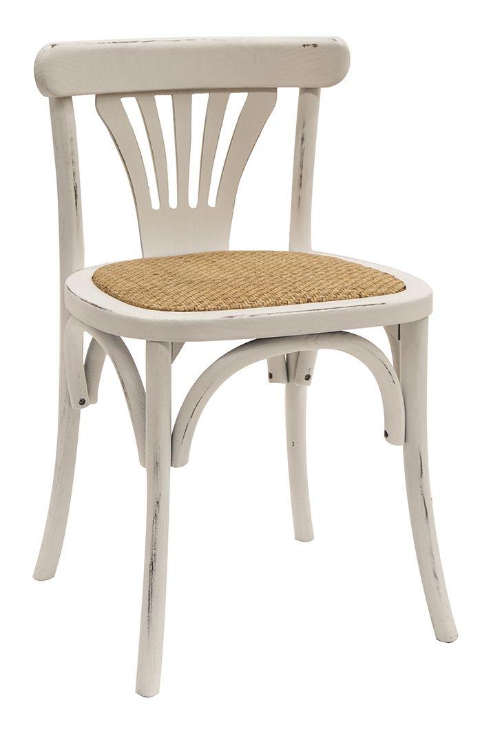 Imagen de las sillas bistro Jade blancas.