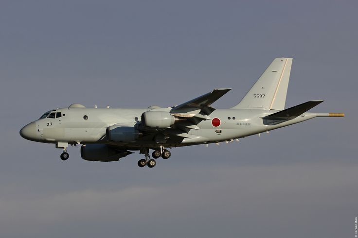 Kawasaki P-1 5507 JMSDF on final approach at Atsugi illuminated by some late afternoon sunshine