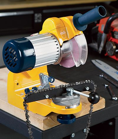 Roughneck Bench Or Wall Mount Chainsaw Sharpener Chain