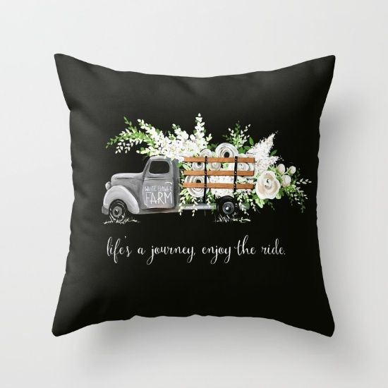 White Flower Farm Throw Pillow by Holli Huyser. Worldwide shipping available at Society6.com. Just one of millions of high quality products available.