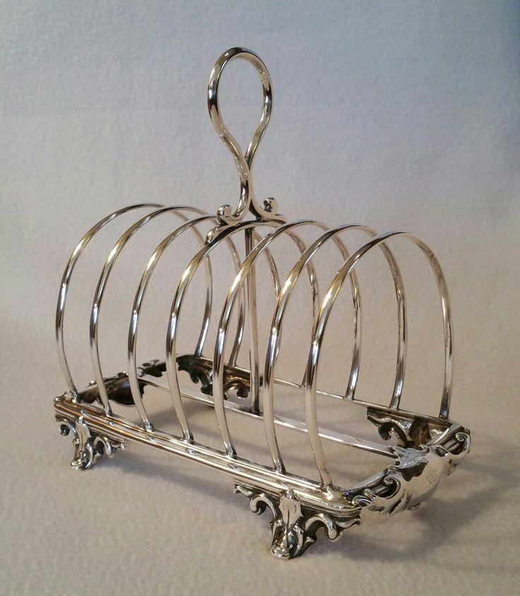 Antique Victorian English Solid Silver Toast Rack hallmarked London 1865, made by the silversmiths Edward & John Barnard Ebay item: 152321807091 sold.
