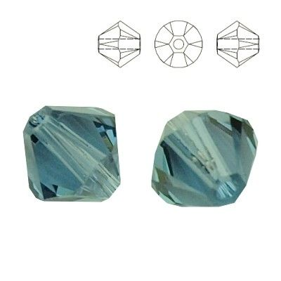 5328 Bicone 4mm Denim Blue 10 pieces  Dimensions: 4,0mm Colour: Denim Blue 1 package = 10 pieces