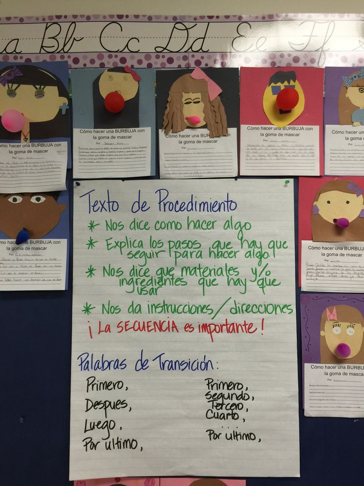 Anchor Chart Components (Writing)