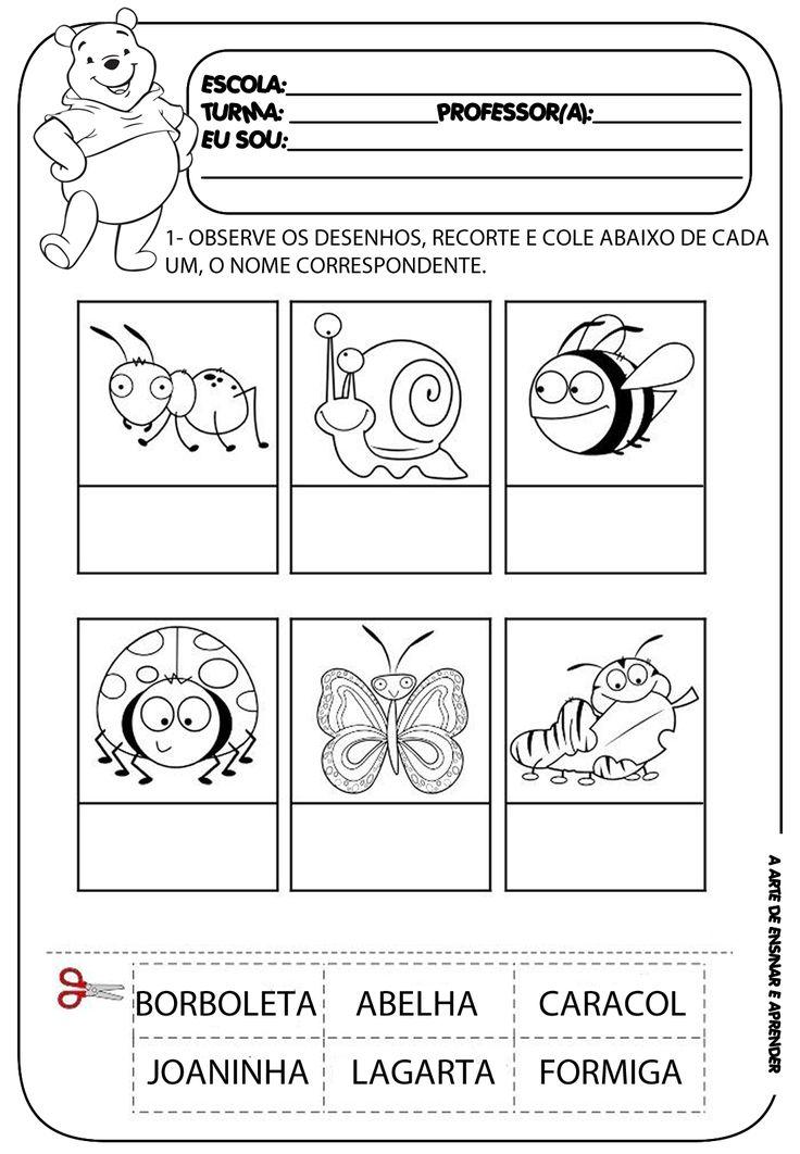 A Arte de Ensinar e Aprender: Atividade pronta - alfabetização