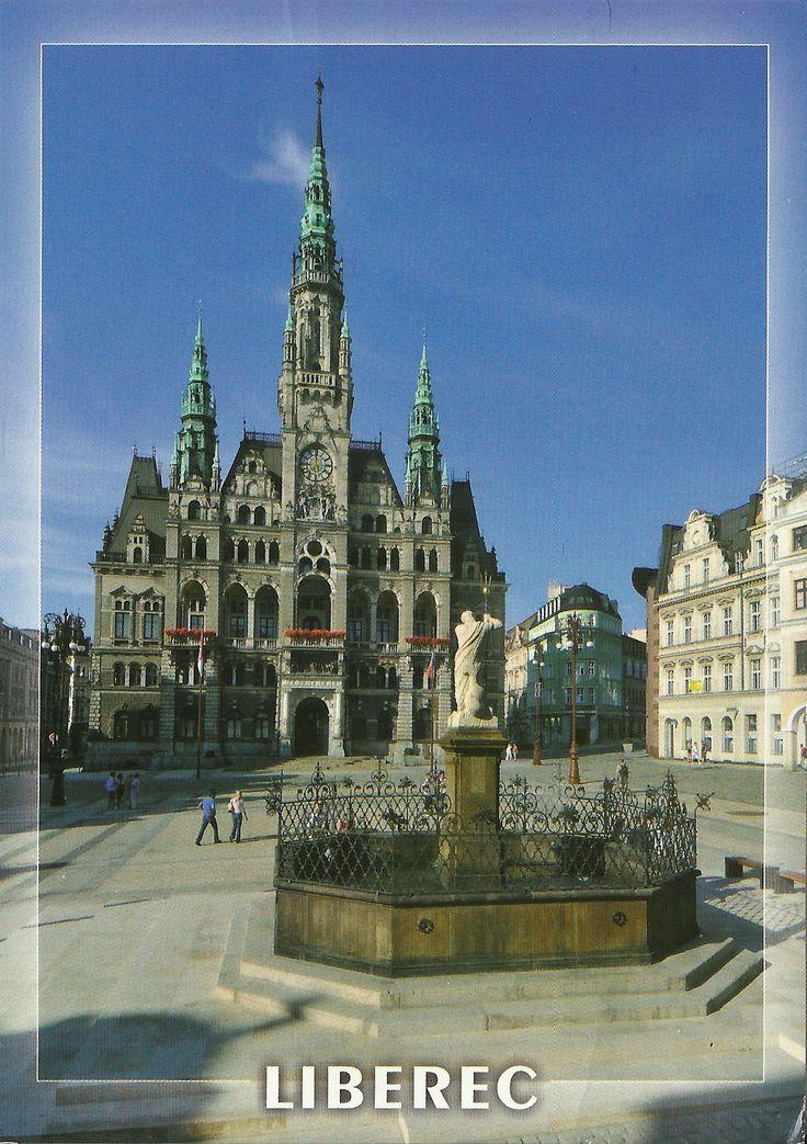 The postcard came from Czech Republic  Liberec