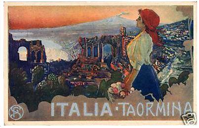 Postcard - Taormina, Sicily.