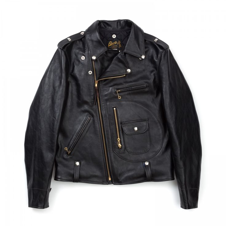 Buco J-24 Horsehide Leather Jacket - Black - OUTERWEAR - CATEGORIES - Superdenim