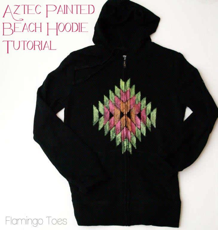 Aztec Painted Beach Hoodie