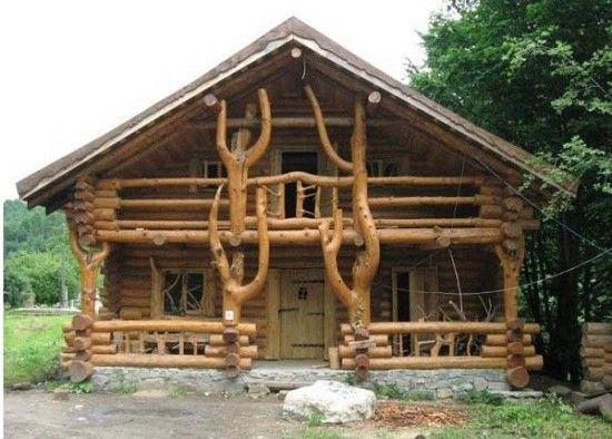 Украшение крыльца деревянного дома